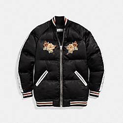 EAGLE SOUVENIR PUFFER COAT - BLACK - COACH 23153