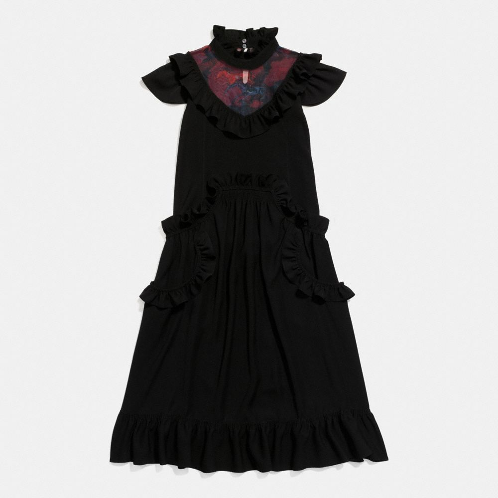 Coach Sleeveless Ruffle Dress
