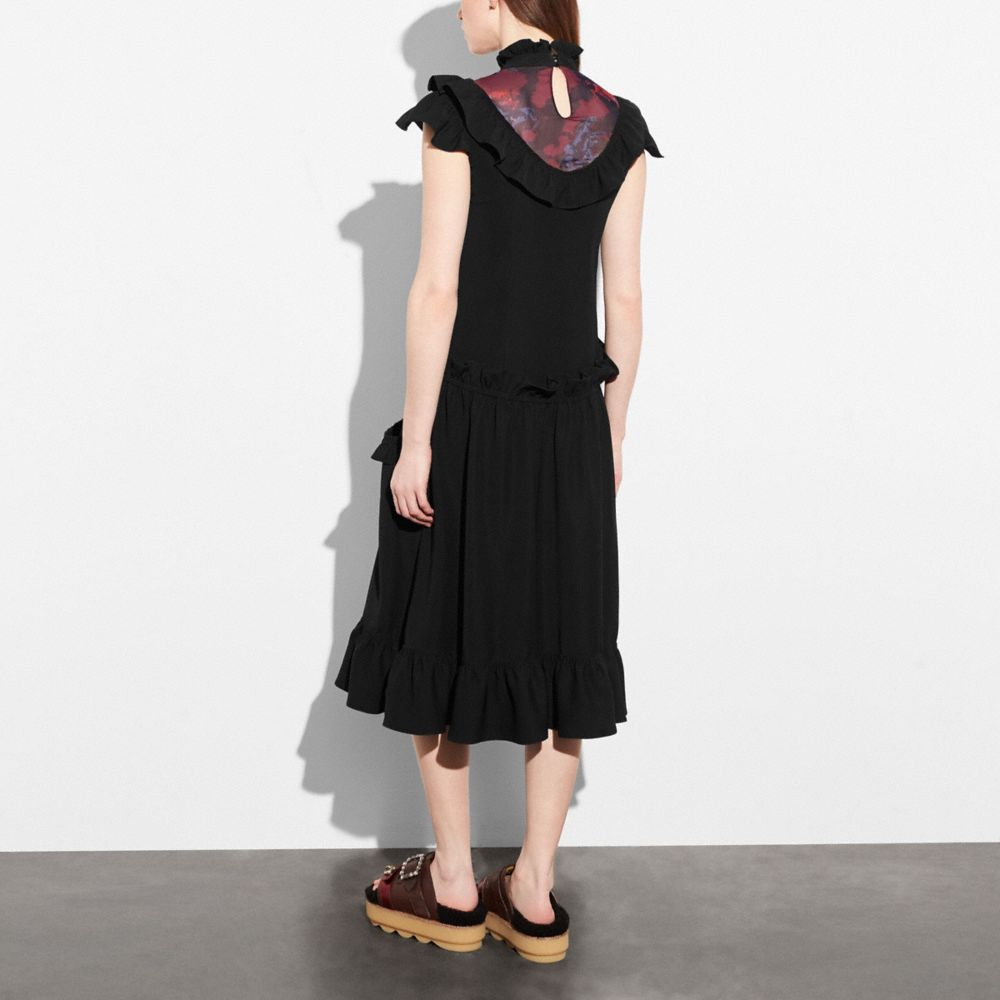 Coach Sleeveless Ruffle Dress Alternate View 2