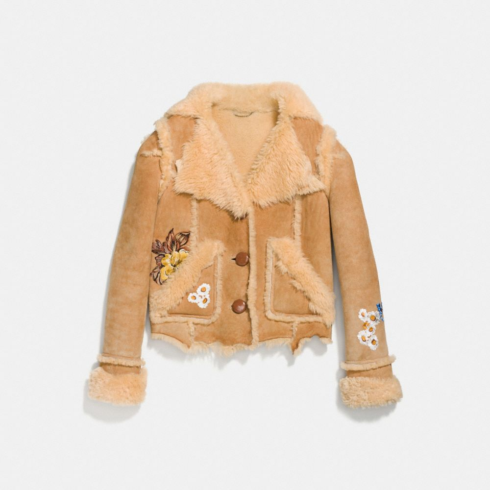Coach Eagle Raggedy Shearling Jacket