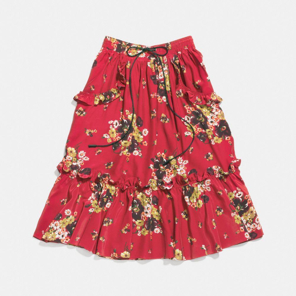 Coach Daisy Bouquet Ruffle Skirt