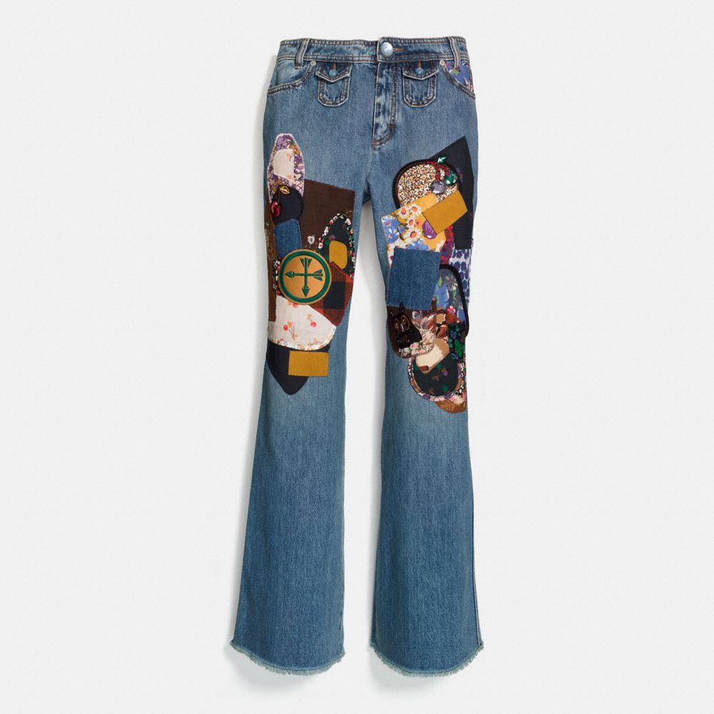 Coach Patched Jeans
