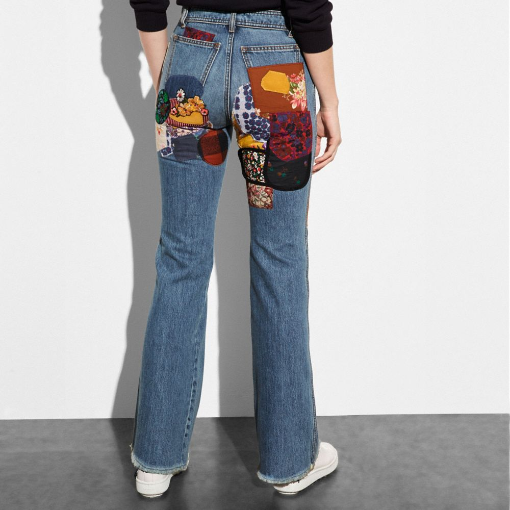 Coach Patched Jeans Alternate View 2