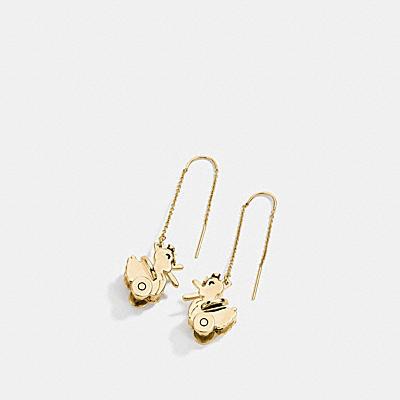 小鴨掛飾耳環