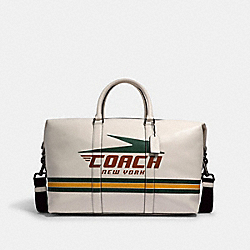 TREKKER BAG WITH VINTAGE COACH MOTIF - QB/CHALK MULTI - COACH 2334