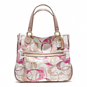 POPPY STAMPED C HALLIE EAST/WEST TOTE