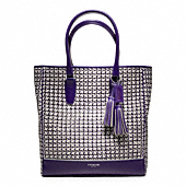 LEGACY CANING LEATHER TANNER NORTH/SOUTH TOTE
