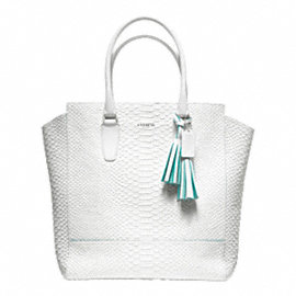 LEGACY CONTRAST EDGE PYTHON NORTH/SOUTH TANNER TOTE