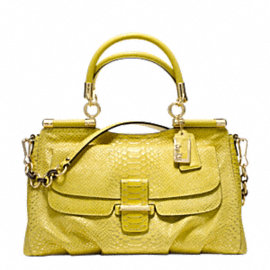 MADISON PINNACLE EMBOSSED METALLIC PYTHON CARRIE