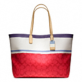 LEGACY WEEKEND PAINTED STRIPE PVC LARGE DOGLEASH TOTE
