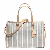 Baby Bag Ticking Stripe Double Zip Tote