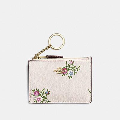 十字繡花卉印花輕薄證件夾