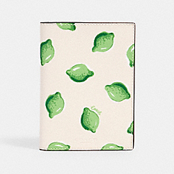 PASSPORT CASE WITH LIME PRINT - IM/CHALK GREEN MULTI - COACH 2351