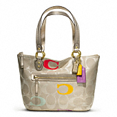 POPPY EMBROIDERED SIGNATURE C SMALL TOTE