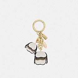 ESSENTIAL TEA ROSE BAG CHARM - CHALK/GOLD - COACH 23539