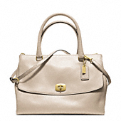 LEGACY PINNACLE LEATHER LARGE HARPER SATCHEL