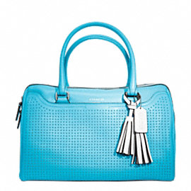 LEGACY PERFORATED LEATHER HALEY SATCHEL