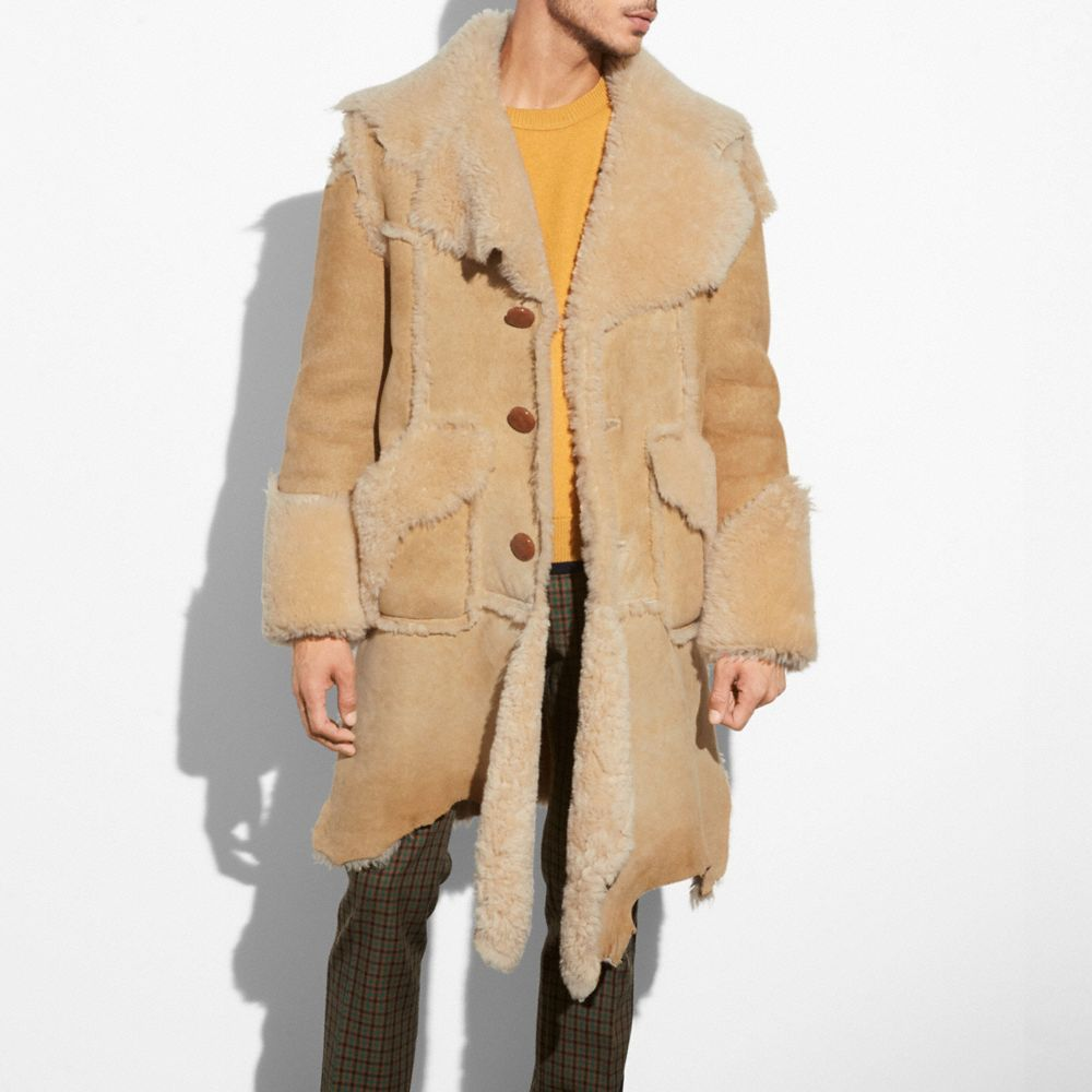 Coach Ragedy Shearling Coat