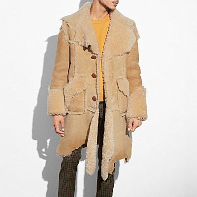 隨性翻皮羊毛大衣
