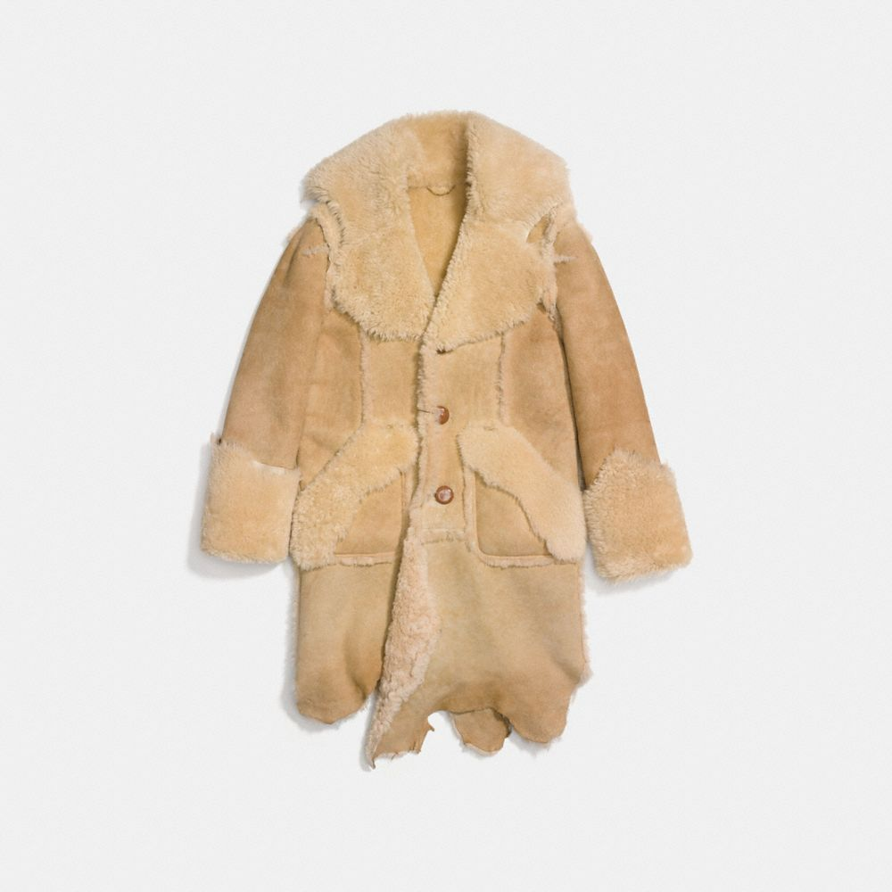 Coach Ragedy Shearling Coat Alternate View 1