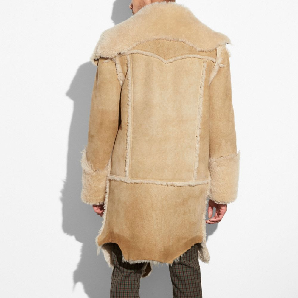 Coach Ragedy Shearling Coat Alternate View 2
