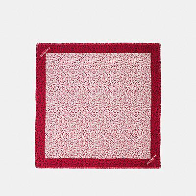 心形印花斜紋絲質方巾