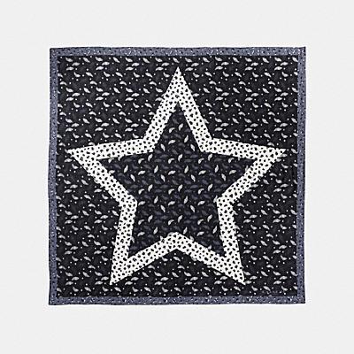 心形羽毛星星印花超大方巾