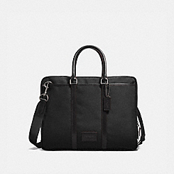 METROPOLITAN SLIM BRIEF - QB/BLACK/BLACK - COACH 23808