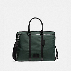 METROPOLITAN SLIM BRIEF - RACING GREEN/BLACK/BLACK ANTIQUE NICKEL - COACH 23808