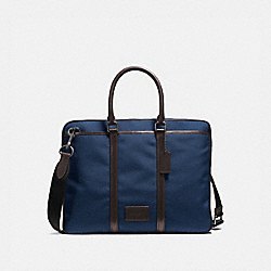 METROPOLITAN SLIM BRIEF - QB/BRIGHT NAVY/CHESTNUT - COACH 23808