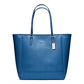 NORTH/SOUTH CITY TOTE IN SAFFIANO LEATHER