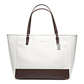 SAFFIANO COLORBLOCK LARGE CITY TOTE
