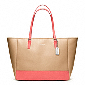 SAFFIANO MEDIUM COLORBLOCK CITY TOTE