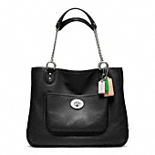 POPPY LEATHER MEDIUM CHAIN TOTE