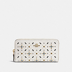 ACCORDION ZIP WALLET WITH PRAIRIE RIVETS - LH/CHALK - COACH 24411