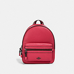VALE MEDIUM CHARLIE BACKPACK - QB/DARK PINK - COACH 2444