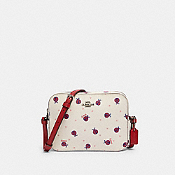MINI CAMERA BAG WITH LADYBUG PRINT - SV/CHALK/ RED MULTI - COACH 2461
