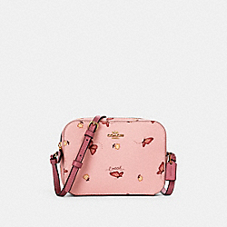MINI CAMERA BAG WITH BUTTERFLY PRINT - IM/BLOSSOM/ PINK MULTI - COACH 2464