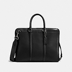 METROPOLITAN SLIM BRIEF - QB/BLACK - COACH 24776