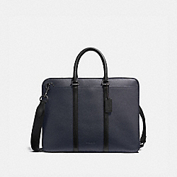 HARNESS METROPOLITAN SLIM BRIEF - BK/MIDNIGHT BLACK - COACH 24777
