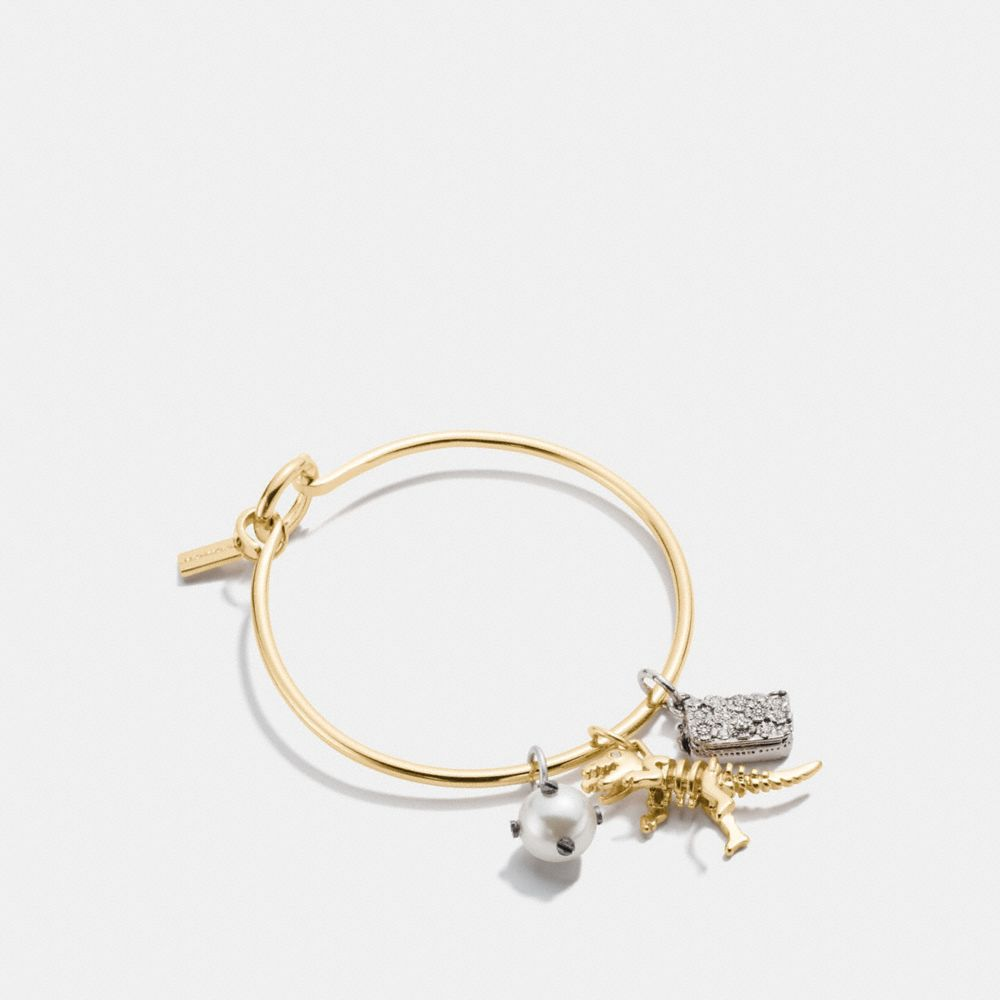 COACH REXY CHARM COLLECTIBLE HOOP BANGLE SET