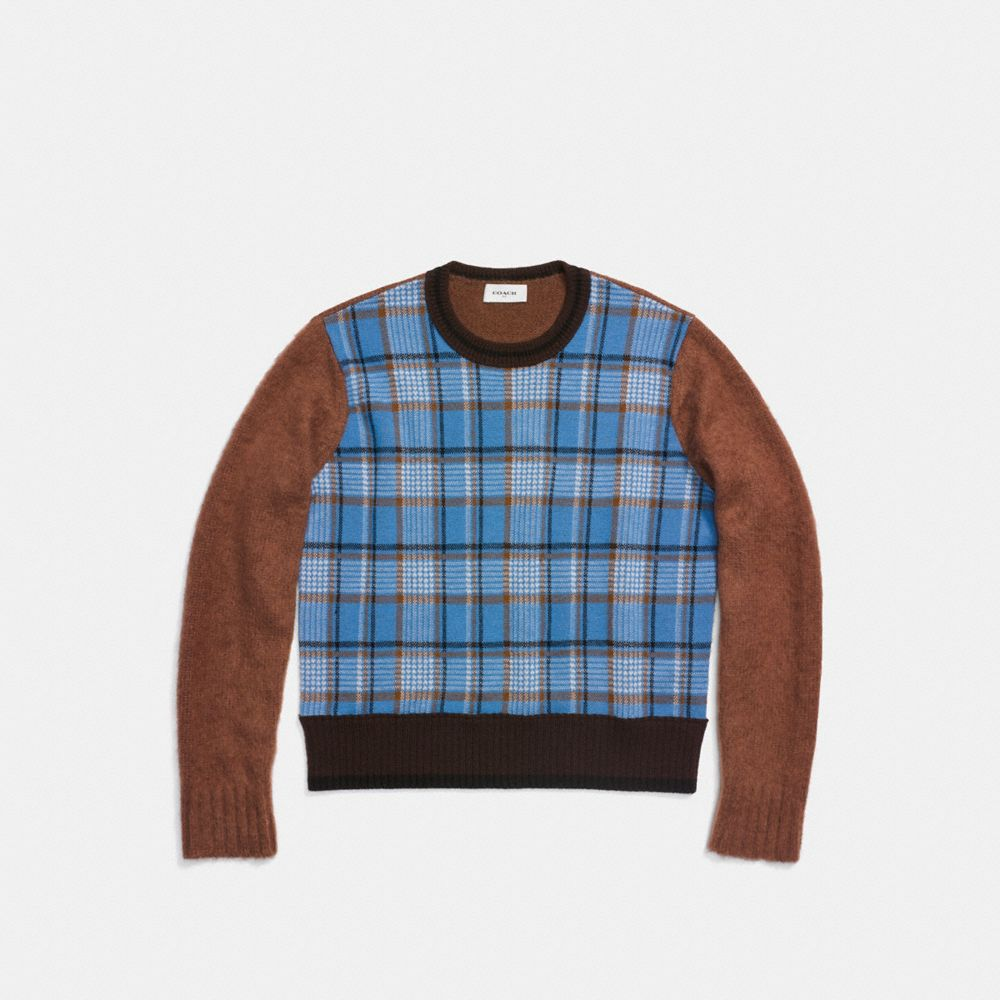 Coach Plaid Crewneck Alternate View 1