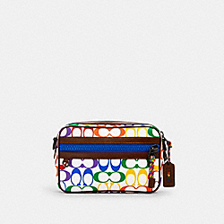 GRAHAM CROSSBODY IN RAINBOW SIGNATURE CANVAS - QB/CHALK MULTI - COACH 2485