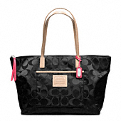 LEGACY WEEKEND SIGNATURE NYLON EAST/WEST ZIP TOP TOTE