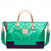LEGACY WEEKEND SIGNATURE COLORBLOCK NYLON WEEKENDER TOTE