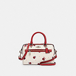 MICRO ROWAN CROSSBODY WITH LADYBUG PRINT - SV/CHALK/ RED MULTI - COACH 2498