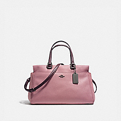 FULTON SATCHEL IN COLORBLOCK - DUSTY ROSE/OXBLOOD/DARK GUNMETAL - COACH 25006