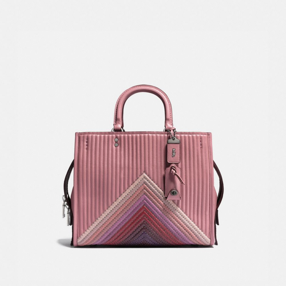 Coach Rogue With Colorblock Quilting and Rivets