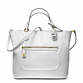 POPPY TEXTURED PATENT SMALL BLAIRE TOTE