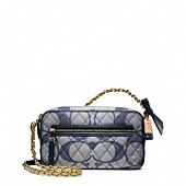 POPPY QUILTED SIGNATURE C DENIM FLIGHT BAG